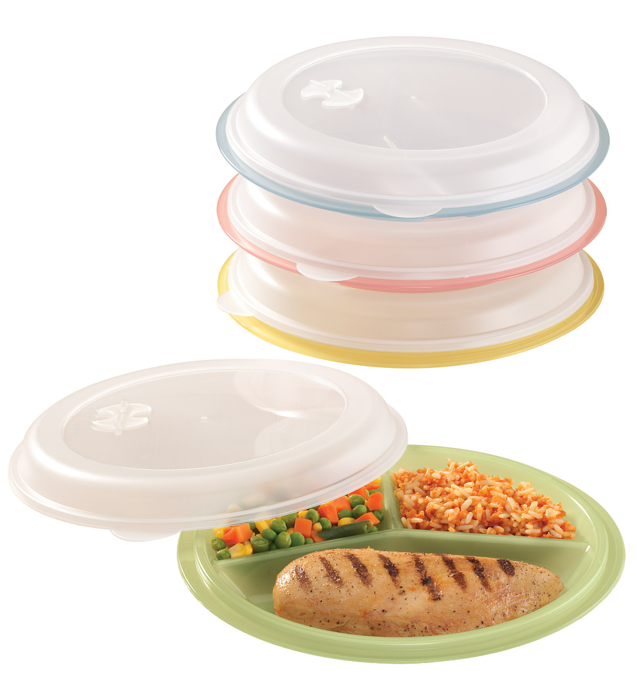 Miles Kimball   Divided Storage Plates, Set of 4