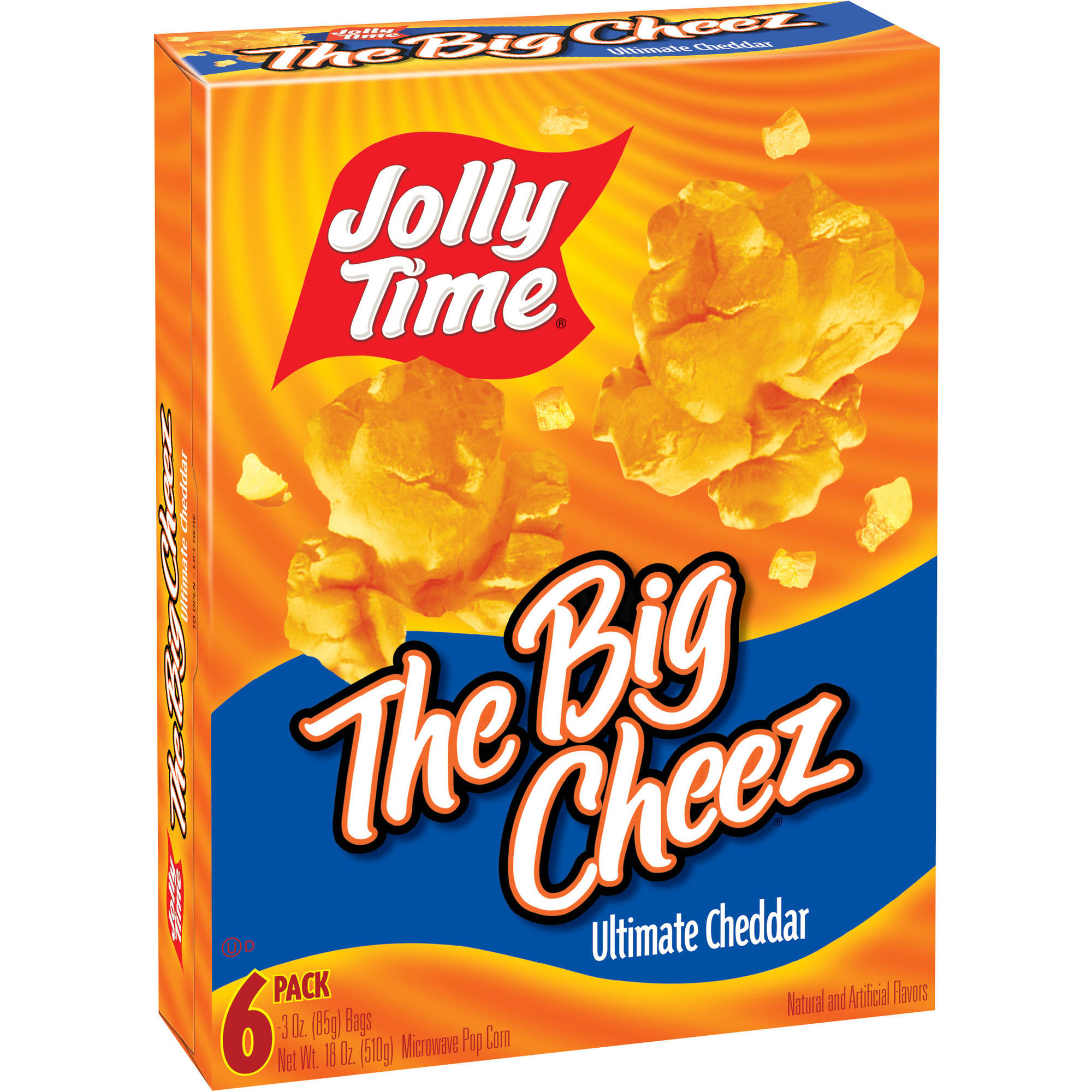 Jolly Time The Big Cheez Ultimate Cheddar Microwave Popcorn, 3 oz, 6 count