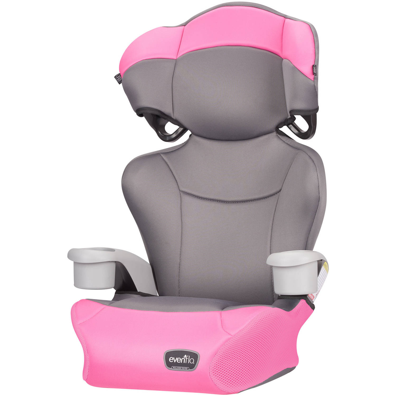 Evenflo Big Kid High-Back Booster Car Seat, Pink Dove