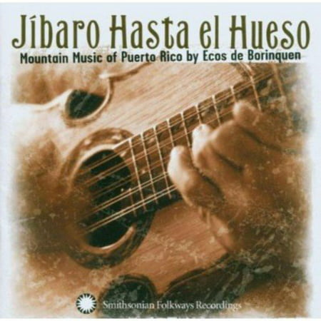 Full title: Jibaro Hasta El Hueso: Mountain Music Of Puerto Rico By Ecos De Borinquen.JIBARO HASTA EL HUESO was nominated for the 2004 Grammy Award for Best Traditional World Music Album.Musica jibara, the mountain village music of Puerto Rico, has experienced a revival. Ecos de Borinquen, a group of virtuoso jibaro performers, show their shining strength, dexterity, and spirit of jubilation through this outstanding album. The spunky guitars and cuatro (a steel-stringed instrument) ring of Puerto Rico's old-world Spanish and Caribbean influences, and the seductive salsa percussion generates an atmosphere most native Puerto Ricans associate with all-night celebrations and partying. What may be more obvious to Spanish speakers than English speakers is the marvelous use of poetry and language in the band's often-improvised lyrics. Led by jibaro master Miguel Santiago Diaz, Ecos de Borinquen embody the resilient, uplifting spirit of the Puerto Rican musical tradition.