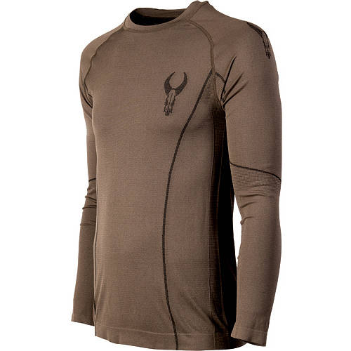 Badlands Latitude Light Weight Base Layer Crew Top, Tobacco, XX-Large by Badlands
