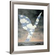 La Grande Famille Framed Art Print Wall Art  By Rene Magritte - 27.5x32