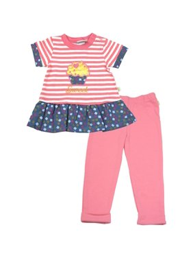 7bce60bbe Product Image Baby Girl Short Sleeve French Terry Top & Leggings, 2pc Outfit  Set. Duck Duck Goose