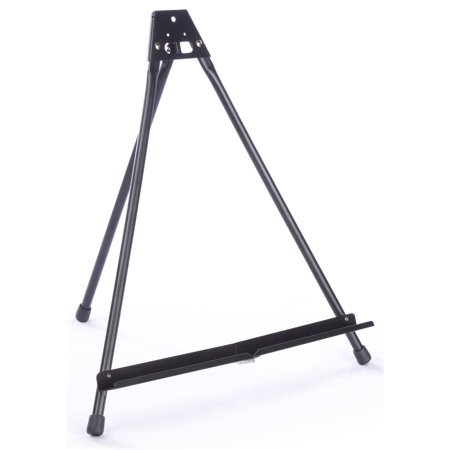 """Set of 4 - Tabletop Easel, Folding Design, Black Aluminum Tripod for Books and Picture Frames up to 16"""" Tall - Ships Fully Assembled (BK2ALCES02)"""