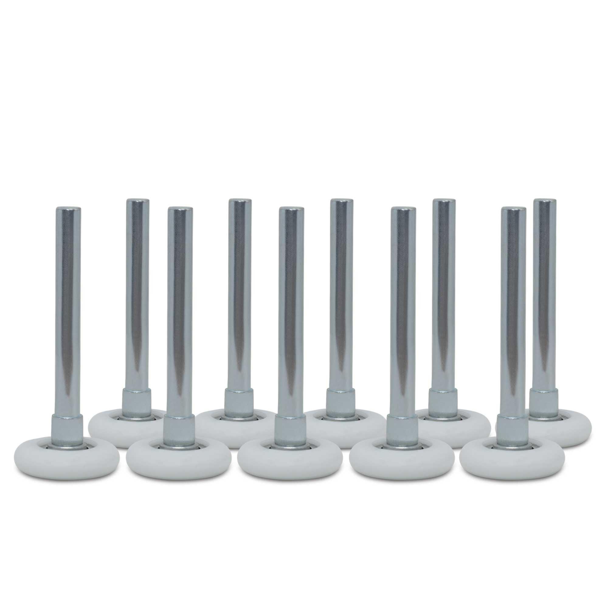 "Garage door rollers - 2"" Premium Nylon & Steel, 10 ball-bearings & 4"" stem (10-pack)"