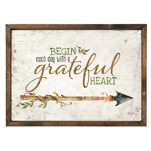 Forest Creations ''Begin Each Day with a Grateful Heart'' Wall Art