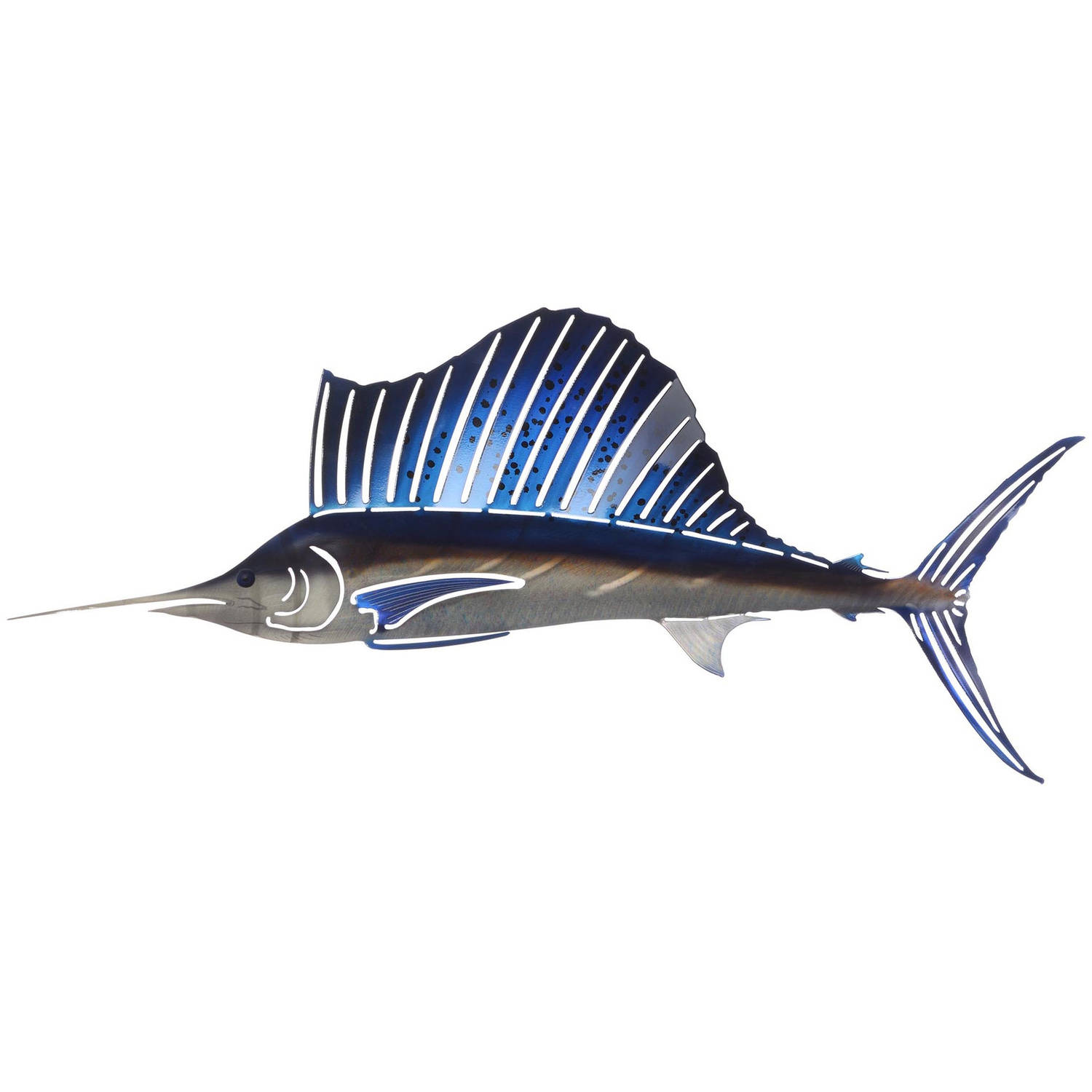 3D Large Sailfish Metal Wall Art By Next Innovations