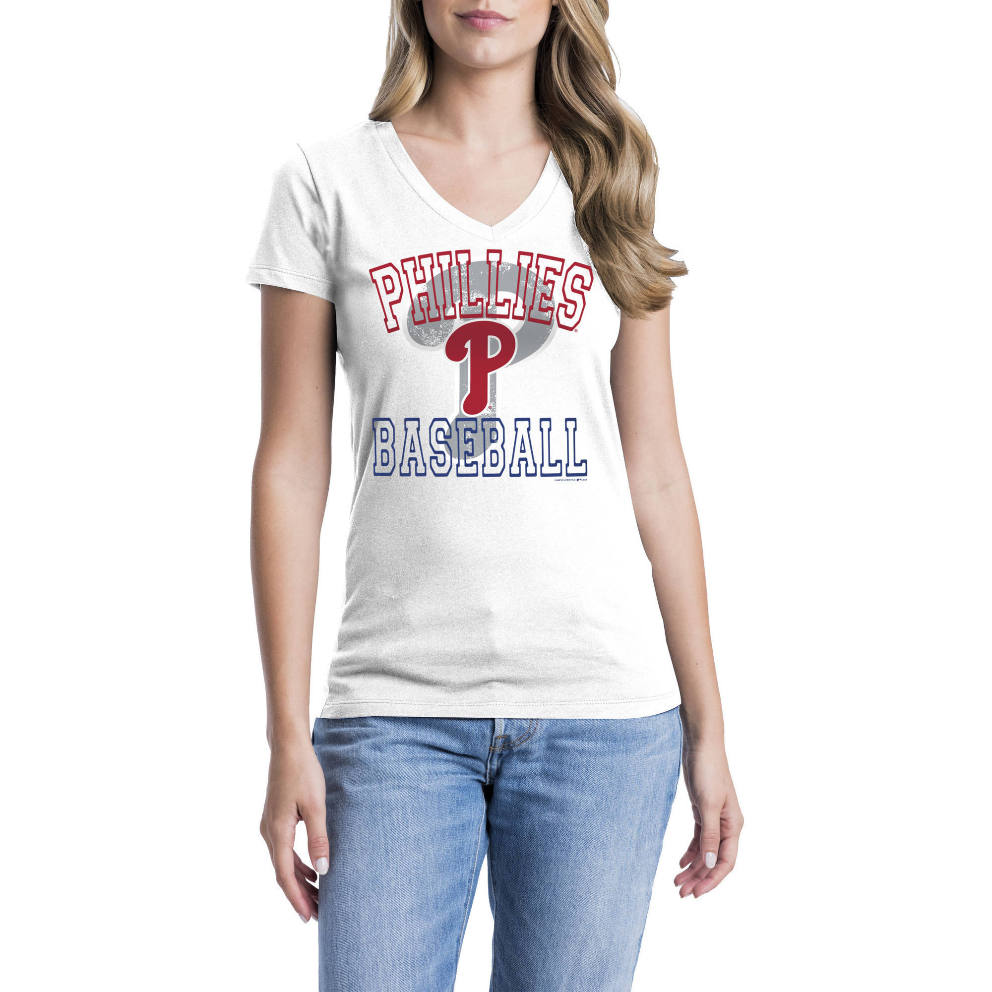 Philadelphia Phillies Womens Short Sleeve Graphic Tee