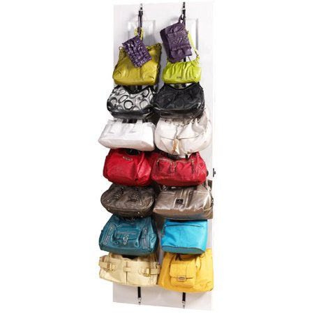 Jokari Storage & Org Purse Rack 8 Hooks Overdoor Organizer (Set of