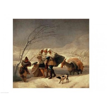Posterazzi BALXIR569 The Snowstorm 1786-87 Poster Print by Francisco De Goya - 24 x 18 in. - image 1 of 1