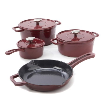 Cookware Cast - Michael Symon Home 7-piece Enameled Cast Iron Cookware Set Model 614-610