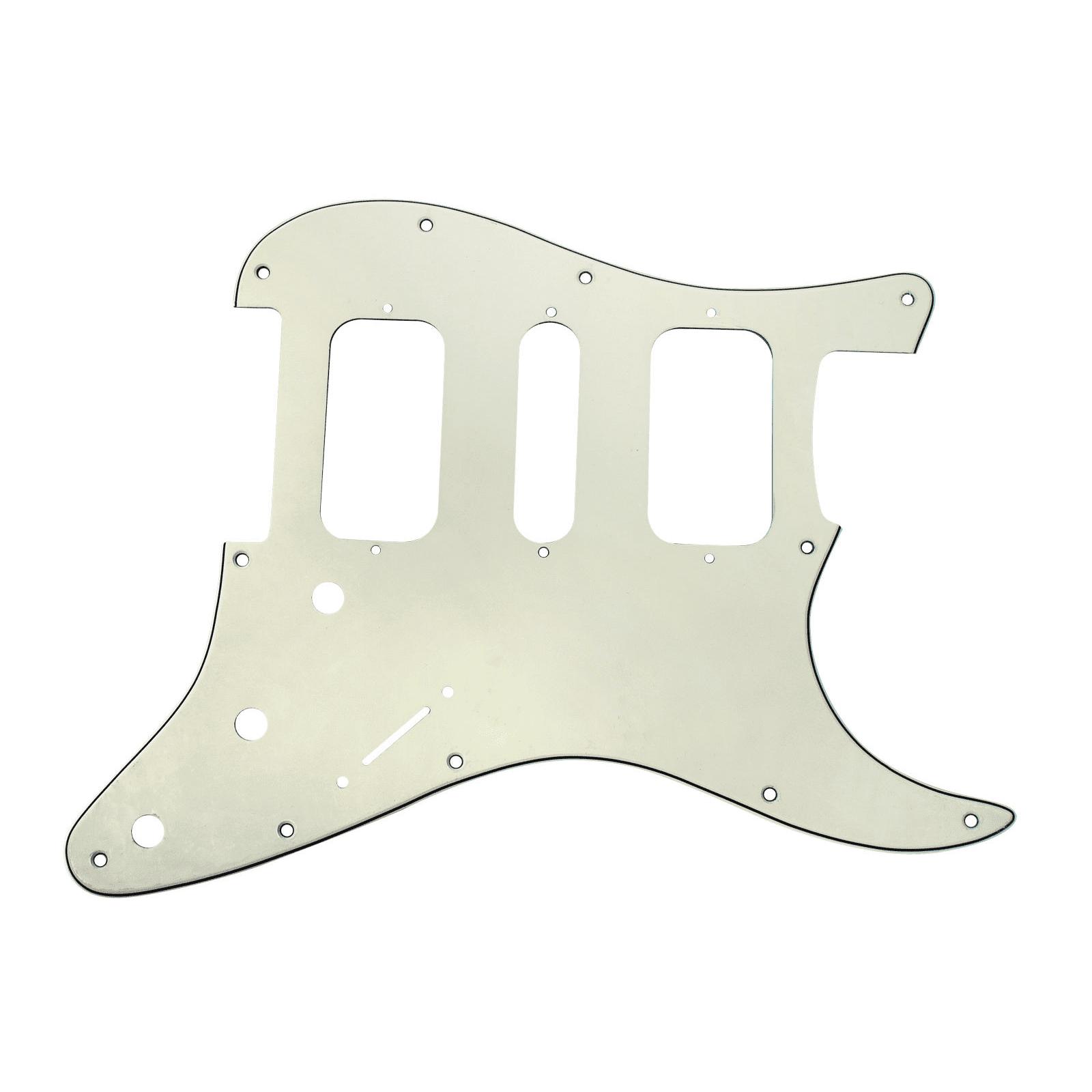 920D Strat 3 Ply HSH Pickguard Fender Stratocaster CNC Cut, Parchment by