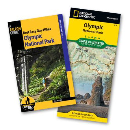 Best Easy Day Hiking Guide and Trail Map Bundle: Olympic National