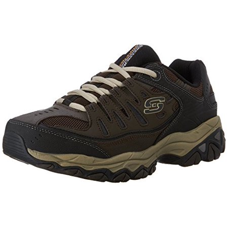 Skechers Sport Men's Afterburn Memory Foam Lace Up Sneaker,BrownTaupe,8 4E US