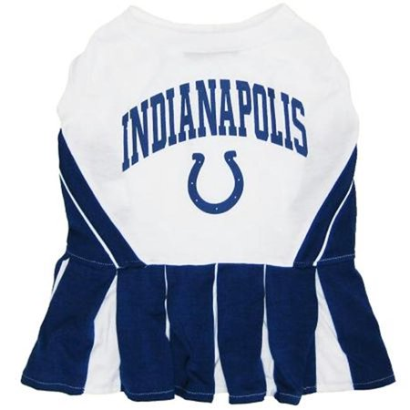 Pets First ICCLO-XS Indianapolis Colts NFL Dog Cheerleader Outfit - Extra Small