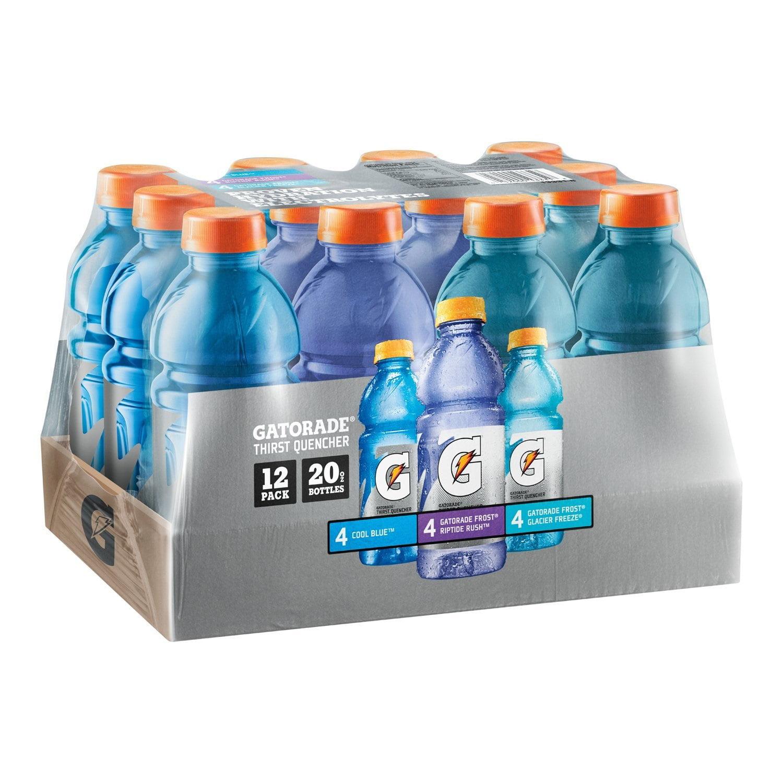 Gatorade Frost Thirst Quencher Variety Pack, 20 oz Bottles, 12 Count
