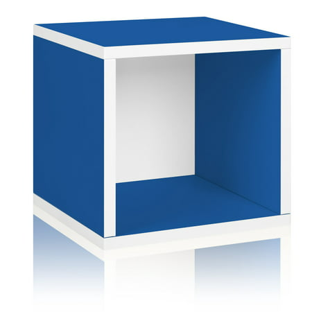 Way Basics Eco Stackable Storage Cube and Cubby Organizer, Blue Blue Storage Cubby