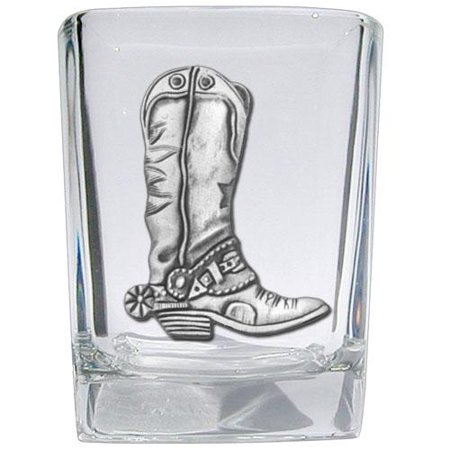 Cowboy Boot Square Shot Glasses (Set of 2) (Cowboy Boot Drinking Glasses)