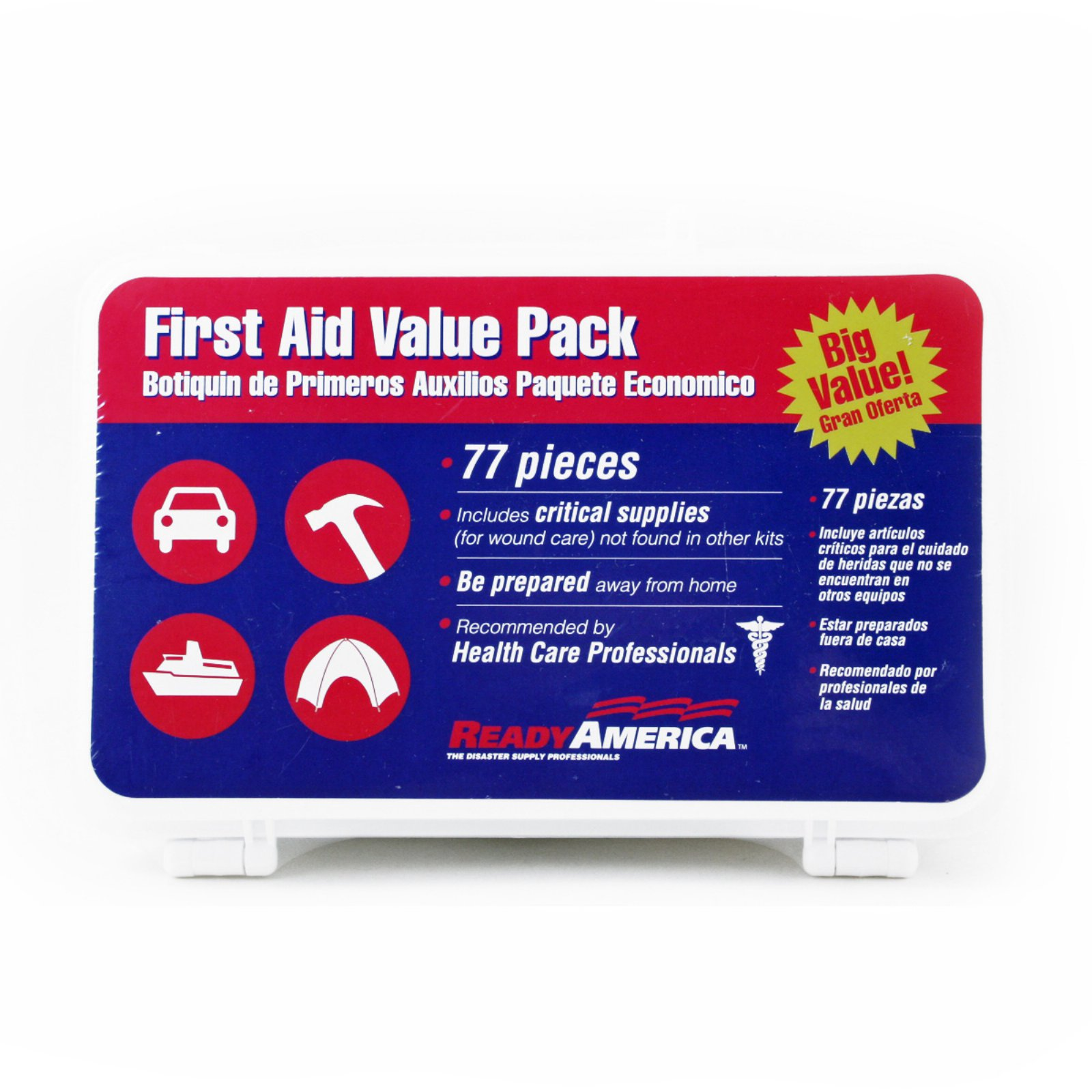Ready America First Aid Kit Value Pack, 77 pc by Generic