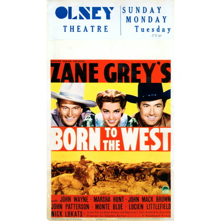 Born To The West Canvas Art -  (11 x 17) (Born To The West)