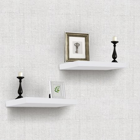Sorbus Floating Shelves — Rectangle Shaped Hanging Wall Shelves for ...
