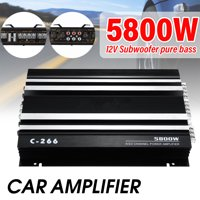 Home Stereo Amplifier Receiver Car Power Amplifier, 5800W Audio Power Amplifier 4 Channel Receiver System ,Black