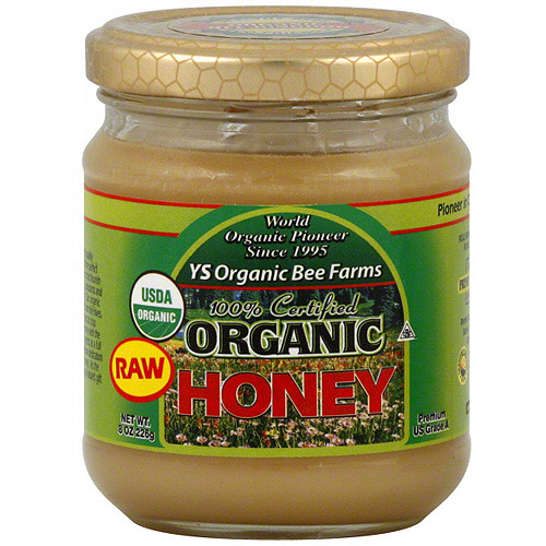 Y.S. Organic Bee Farms Raw Organic Honey,8 oz (Pack of 6)