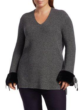 Warm & Fuzzy Faux Fur-Trim Sweater
