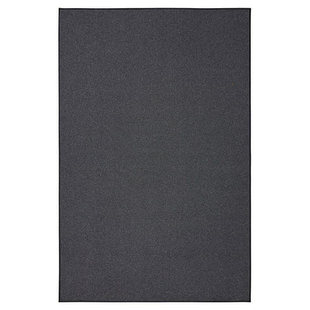 Smooth and soft outdoor Gray area rugs 5'x7' Oval for patio, porch, deck, boat, basement, garage, party, event, wedding tents and more with a low pile height ()