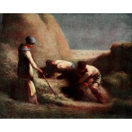 Posterazzi The Straw-binders Millet 1910 Canvas Art - Jean-FranÔo?ois Millet (24 x 36)