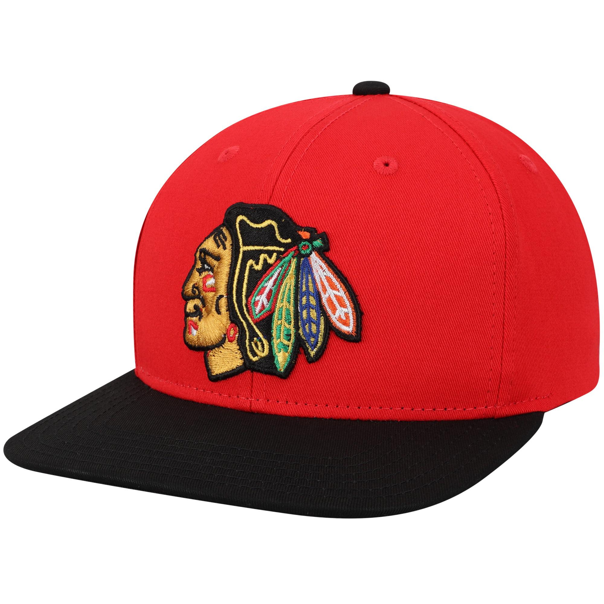 Chicago Blackhawks Youth Two-Tone Flatbrim Snapback Adjustable Hat - Red/Black - OSFA