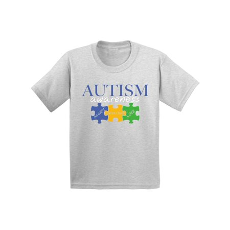 Awkward Styles Youth Autism Awareness Shirts for Kids Accept Understand Love T-Shirt Puzzle Pieces Kid's Tshirt Autistic Spectrum Awareness Shirt Support Autism Awareness Youth T Shirt Autism Gifts (Autism Shirts For Sale)