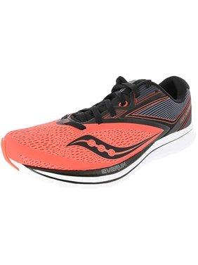 Saucony Men's Kinvara 9 Viz Red / Black Low Top Mesh Running Shoe - 12.5M