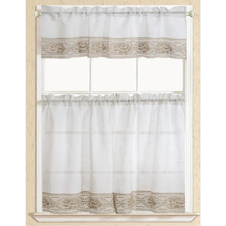 eden lace kitchen curtain beige. Black Bedroom Furniture Sets. Home Design Ideas