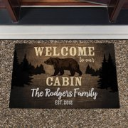 Welcome to Our Cabin Personalized Doormat