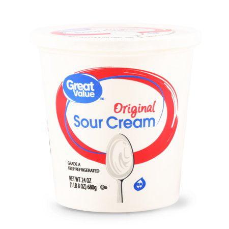 Great Value, Original Sour Cream, 24 Oz.