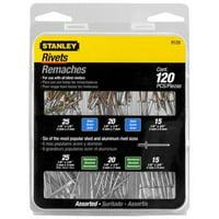 Stanley Aluminum & Steel Rivet Assortment Set (120-pack)
