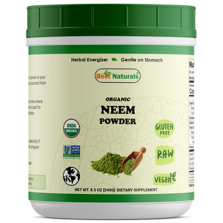 Best Naturals Certified Organic Neem Powder 8.5 OZ (240 Gram), Non-GMO Project Verified & USDA Certified