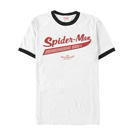 Marvel Men's Spider-Man Homecoming Neighborhood Hero Ringer T-Shirt