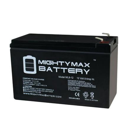 12V 9AH SLA Replaces Streamlight E-Flood Litebox HL + 12V 1A Charger