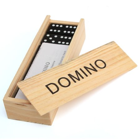 28 Pcs Domino Game Wooden Boxed Traditional Classic Blocks Play Set Toy Gift New - Domino Masquerade