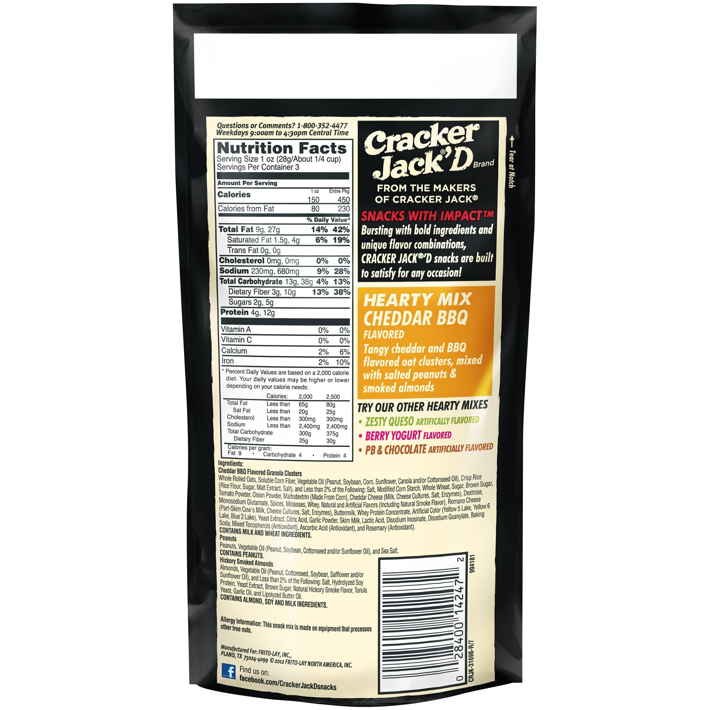 Cracker Jack\'D Hearty Mix Cheddar BBQ Snack Mix 3 oz. Bag - Walmart.com