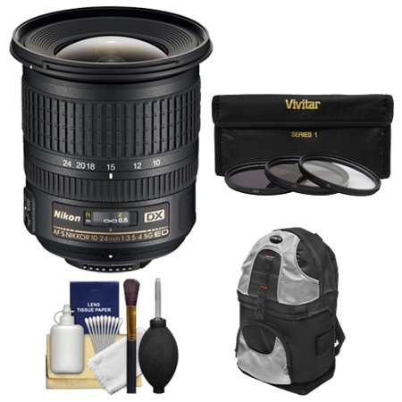 nikon 10 24mm f 3 5 4 5 g dx af s ed zoom nikkor lens with. Black Bedroom Furniture Sets. Home Design Ideas