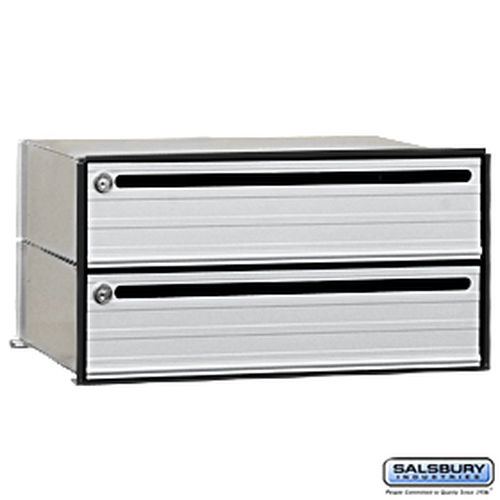 Salsbury Industries 2402 Data Distribution System Aluminum Box - 2 Doors