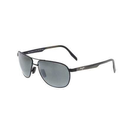 319cb0002465 Maui Jim - Maui Jim Men's Polarized Castles 728-2M Black Aviator Sunglasses  - Walmart.com