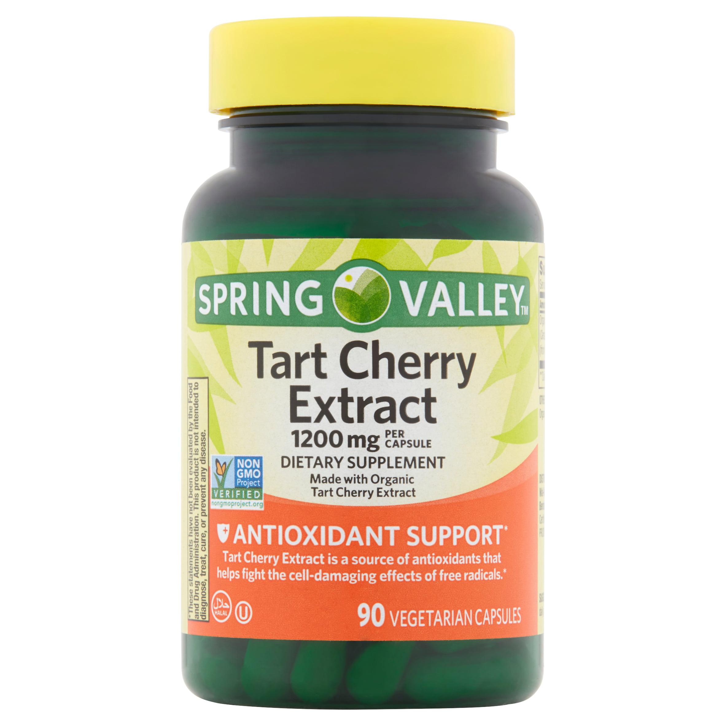 Spring Valley Tart Cherry Extract Vegetarian Capsules, 1200
