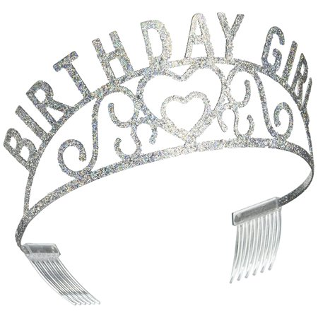 60632 Glittered Metal Birthday Girl Tiara, This item is a great value! By Beistle