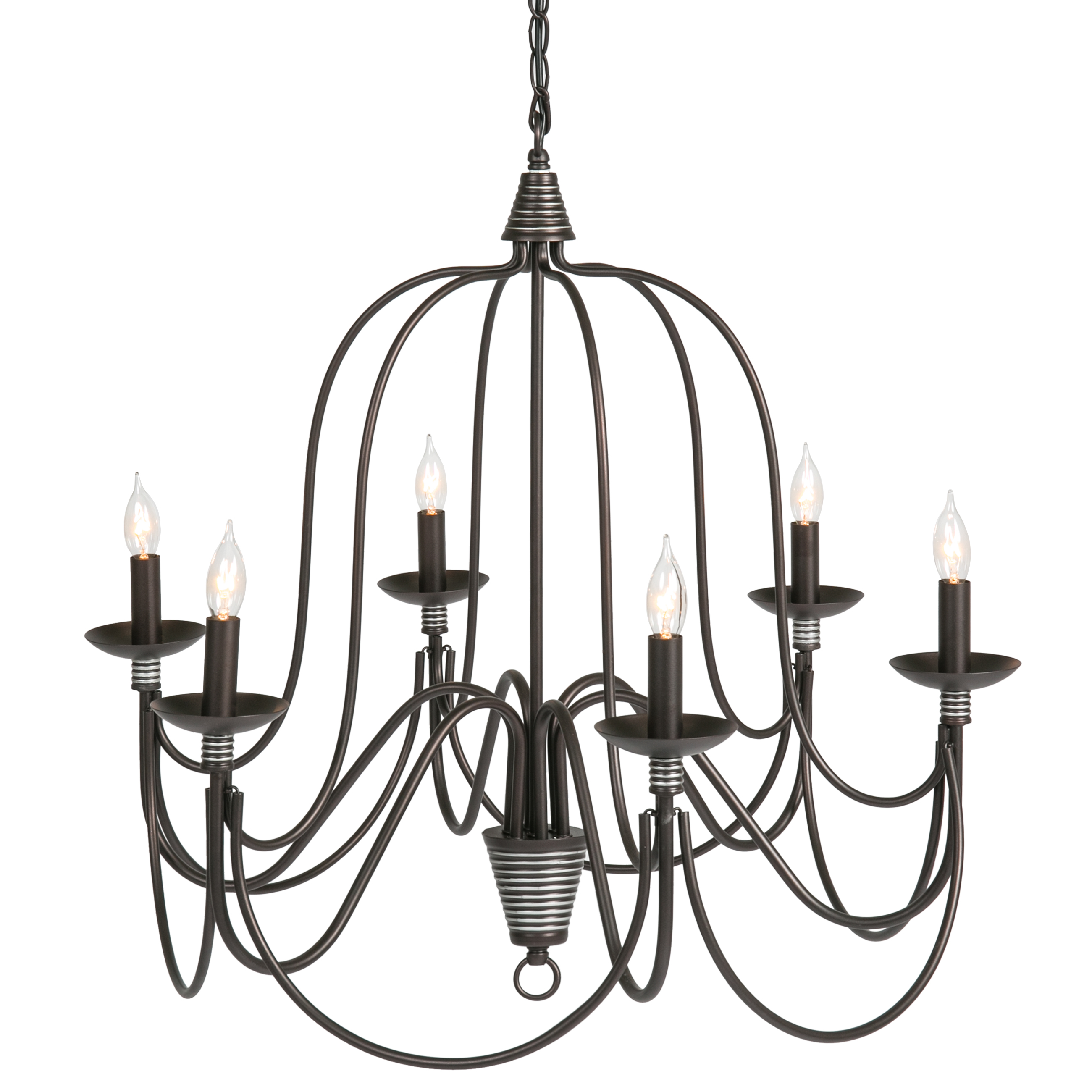 Best Choice Products Home 6-Light Ceiling Candle Chandelier Hanging Fixture W  Bronze Finish by Best Choice Products