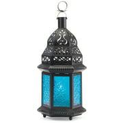 Zingz & Thingz 37438 Blue Moroccan Candle Lantern