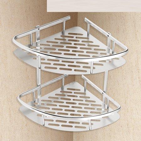 Aluminum Corner Insert (Aluminium Wall Mounted Shower Storage Corner Shelf Shelf Shelves Bathroom Cloth Holder Rack Basket )